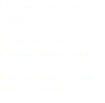 Compare spa models at a glance Explore benefits of Bahama hydrotherapy Learn why owners buy again and again